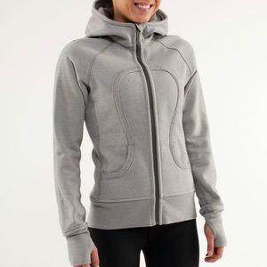 Lululemon hoodie grey stripe sz 8